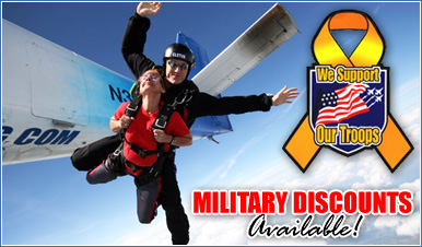Skydiving in Palmersville Tennessee