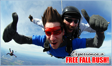 Skydiving in Greenfield Tennessee
