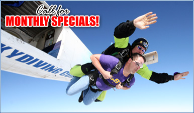 Skydiving in Cunningham Tennessee